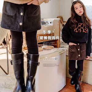 儿童包裙女童外穿一步<span class=H>裙裤</span>时尚假两件套半身<span class=H>短裙</span>女包臀洋气秋冬季