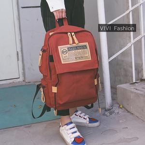 2017新款街头潮流韩版帆布双肩包大容量旅行背包学生书包男<span class=H>女包</span>包