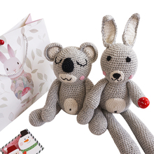 Ins explosive baby doll hand knitted wool baby bear rabbit doll