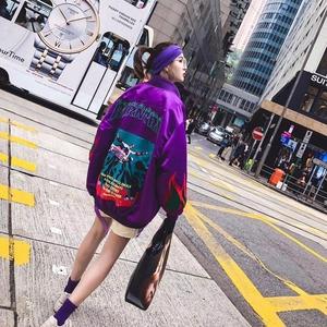 品牌折扣2019春夏季节款夹克<span class=H>女装</span>休闲百搭潮流时尚气质学生外套