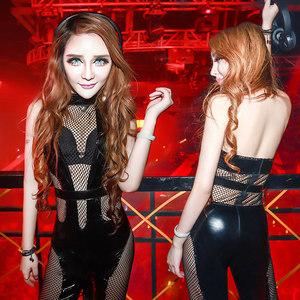 舞依芭酒吧ds<span class=H>演出服</span>新款爵士性感连体领舞服DJ女歌手表演服舞台装