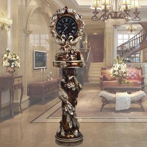 欧式<span class=H>落地钟</span>美式客厅静音创意孔雀大座钟别墅摆件大钟装饰立钟钟表