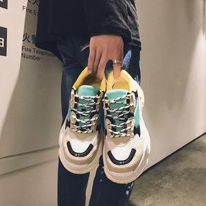 2018冬季嘻哈<span class=H>男鞋</span>老爹鞋百搭休闲鞋男士运动鞋潮鞋韩版潮流<span class=H>男鞋</span>子