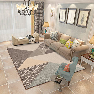北欧ins地毯客厅<span class=H>沙发</span>茶几毯灰色简约现代卧室家用可机洗满铺<span class=H>地垫</span>