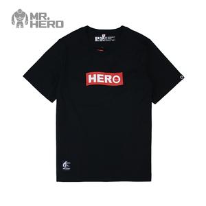 KXTOYS出品原创设计MR.HERO<span class=H>男装</span>夏季纯棉圆领短袖T恤情侣基础款