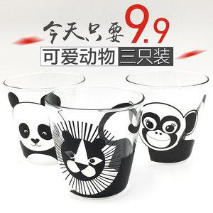 卡通<span class=H>熊猫</span>水杯<span class=H>玻璃</span>杯早餐杯创意透明<span class=H>玻璃</span>牛奶杯家用燕麦果汁咖啡杯