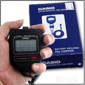 <span class=H>秒表</span>计时器CASIO卡西欧HS-30W田径用具电子多功能10道包邮跑表