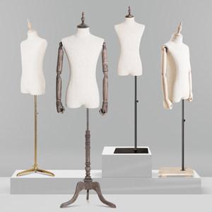 唯力固立体裁剪服装店模特道具男装半身模特橱窗展示人台模特拍摄
