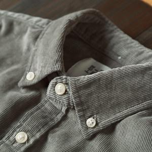 厚版灯芯绒<span class=H>衬衫</span>男长袖纯棉男装条绒衬衣灯芯绒外套男日系ifashion