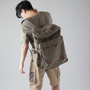 双肩包男女复古休闲旅行包登山包大容量旅行帆布包背包男<span class=H>女包</span>包