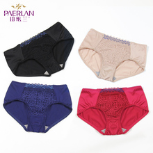 Boyland lace-edged underpants sexy seduction a traceless underpants collision color mid-waist hip triangles
