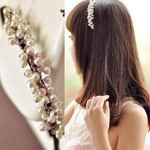 韩国珍珠<span class=H>发箍</span>头箍韩版发饰甜美发窟头饰小饰品淑女压发带超仙发卡