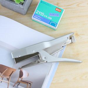 日本进口MAX美克司HP-88手握式省力<span class=H>订书机</span>适用订布料皮革纸张松紧带订书器学生用钉书机配2115拱形<span class=H>针</span>办公用品