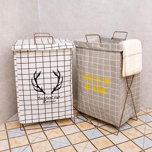 北欧脏衣服收纳筐脏衣篮篓桶可折叠框防水家用简约布艺超大号卧室