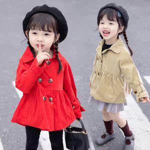 女童春秋外套2019新款0宝宝<span class=H>风衣</span>1儿童春装2韩版3小童洋气4潮衣5岁