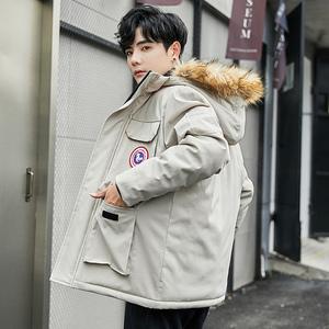 新款韩版时尚修身连帽棉衣