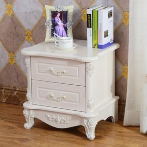 欧式床头柜白色简约现代韩式卧室北欧床头柜烤漆包邮储物柜收纳柜
