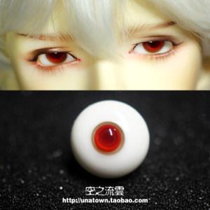 bjd玻璃<span class=H>眼珠</span> 小虹膜 红豆 121416mm 小眼睛的福音346分叔用