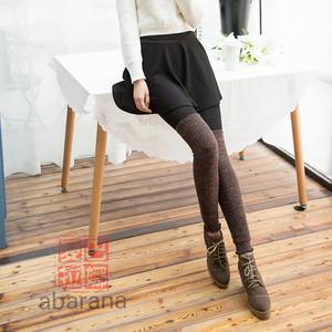 秋冬踩脚过膝长筒女士<span class=H>袜套</span>保暖针织堆堆护腿袜加厚护腿袜显瘦靴套