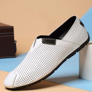 夏季白色<span class=H>豆豆</span><span class=H>男鞋</span>45透气加大码<span class=H>男鞋</span>46特大号47英伦真皮休闲皮<span class=H>鞋子</span>