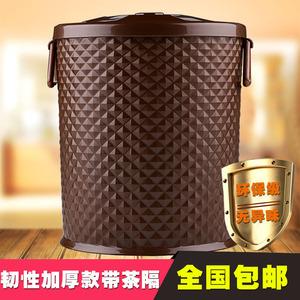 加厚塑料茶渣桶 带盖茶水桶茶叶垃圾桶茶盘排水桶茶道<span class=H>零配件</span>茶桶