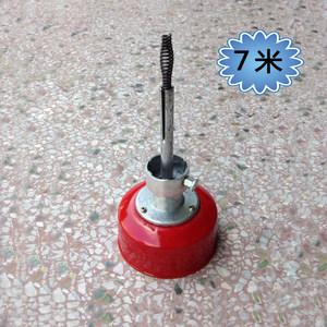 地漏堵塞疏通器电动清理机通用滚桶弹簧套装葫芦小簧10mm*7米促销