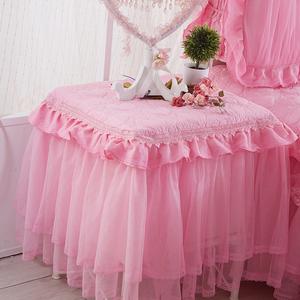 夹棉加厚 蕾丝床头柜罩套床头柜盖布<span class=H>盖巾</span>防尘罩小台布布艺