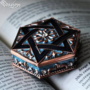 Wasjoye六芒星复古欧式公主首饰盒信物盒<span class=H>珠宝</span>戒指饰品收纳盒礼物