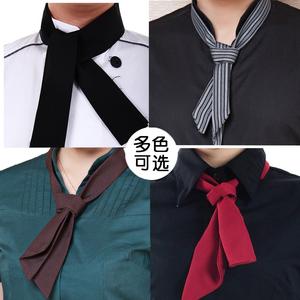 领巾<span class=H>领结</span>服务员厨师汗巾 酒店餐厅工作服配饰围脖<span class=H>领带</span>咖啡厅<span class=H>领结</span>