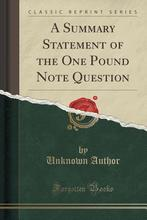 Pre-sale A Summary Statement of the One Pound...