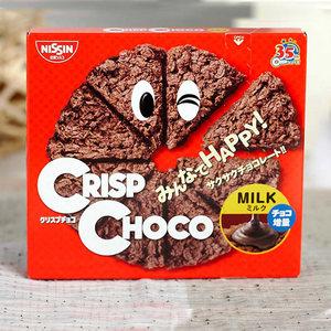 日本进口零食 日清思高CISCO <span class=H>巧克力</span>麦脆批威化<span class=H>饼干</span> 薄脆<span class=H>饼干</span>50g