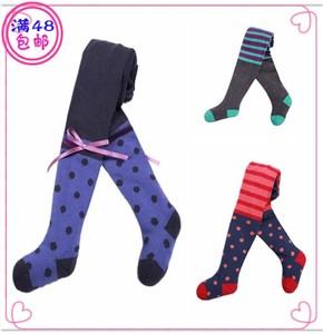 新款时尚婴儿童<span class=H>连裤</span><span class=H>袜</span>女童<span class=H>宝宝</span>全棉大PP打底裤<span class=H>波点</span>蝴蝶结条纹