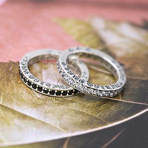 S925纯银时尚饰品 个性女款镶嵌白锆石<span class=H>银戒指</span>韩版十字潮流小指环