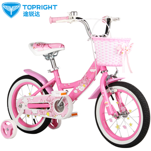 <span class=H>途锐达</span>儿童自行车16/14/12/18寸女童宝单车3/5/6/8岁粉色 小城堡