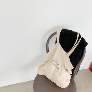 小布自制2019春季韩版休闲大容量单肩包手提包包字母印花<span class=H>布包</span>女