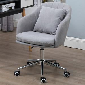 绒布小电脑椅家用创意书桌椅布艺办公升降旋转椅卧室学生<span class=H>座椅</span>