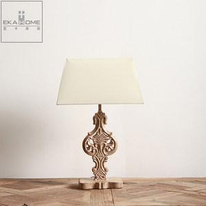 壹卡家居美式复古装饰台灯精美树脂雕花护眼床头灯家用简约卧室灯