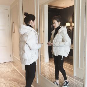 2018冬季新款韩版显瘦百搭连帽加厚棉衣女短款羽绒棉服棉袄外套
