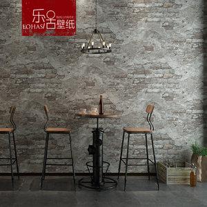 水泥灰色仿砖仿古<span class=H>红砖</span>砖块砖头复古砖纹墙纸工业风饭店酒吧壁纸