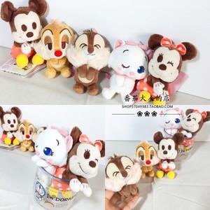 日本带回  迪士尼可爱的卡通人物毛绒<span class=H>公仔</span> 挂件 米奇米妮妙妙猫