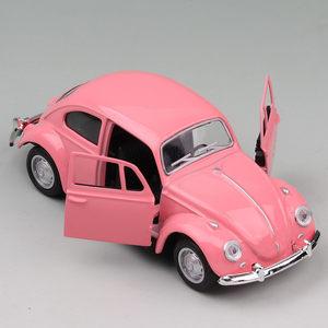 大众甲壳虫老爷车合金<span class=H>车模</span>儿童仿真玩具小汽车烘焙蛋糕店摆件模型