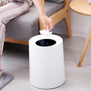 汉世刘家双层<span class=H>垃圾桶</span>家用客厅卧室可爱创意办公室卫生间塑料桶纸篓