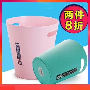 茶花<span class=H>垃圾桶</span>塑料家用厨房卫生间客厅大小号时尚创意欧式纸篓垃圾筒
