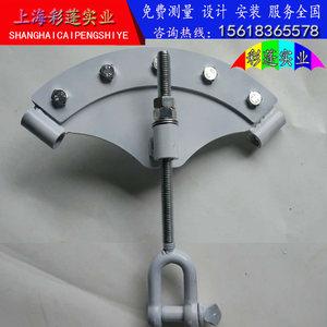 包邮膜结构<span class=H>停车棚</span>安装配件钢丝绳三件套索扣膜角板拉力器膜布加工