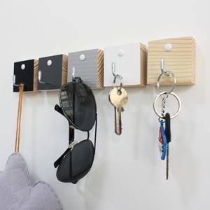 单个实木质创意免打孔墙面艺术装饰小<span class=H>粘钩</span>进门口玄关壁挂钥匙挂钩