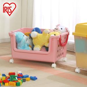 正品<span class=H>爱丽思</span>IRIS 儿童玩具整理筐 <span class=H>收纳筐</span> 盒 带滑轮 3件包邮
