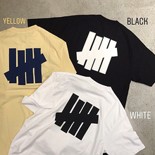 Base Monochrome Five Bars Undefeated Small Logo Loose Cotton Straight Bottom Short Sleeve Summer T-shirt Couple