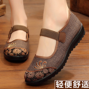 老人北京布<span class=H>鞋</span>女平跟新款女式太太<span class=H>鞋</span>子奶奶中老年妈妈平底女士单<span class=H>鞋</span>