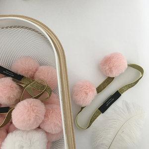 ins超萌亲子毛球熊耳朵发带BOITY粉色可爱弹力发箍发饰洗脸<span class=H>束发带</span>