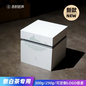 福鼎白茶散茶包装盒白毫银针礼盒寿眉白牡丹茶叶空包装通用散茶盒